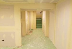 basement drywall taping