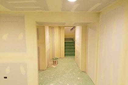 basement drywall taping small