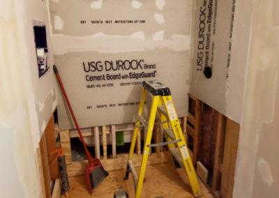 custom-build-shower-framing