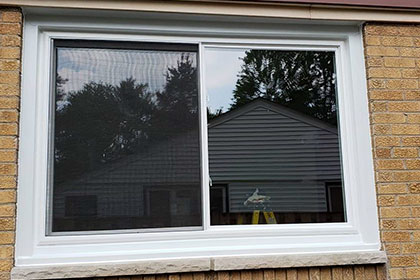 replacement slider white window small