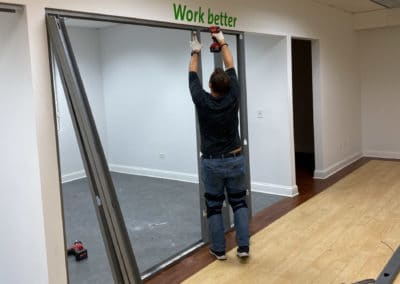commercial-office-metal-studs-framing