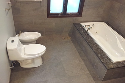 tub bidet toilet tiles Bathroom remodeling Northbrook