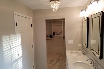wallk-in-closet Master bathroom remodeling Palatine