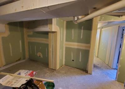 basement-wall-drywall-installed